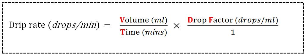 Drip Rate Formula
